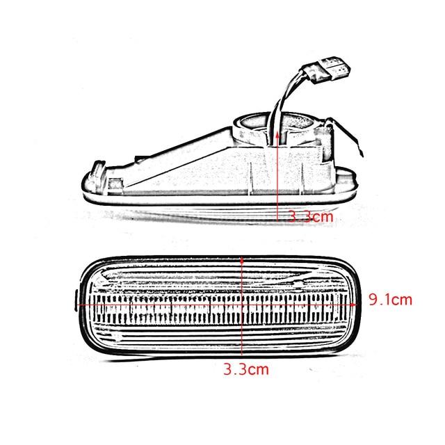 2pc LED Sequential Turn Signal Fender Marker Lights for HONDA for Civic 1996-2000 + CRV 1997-2000 4