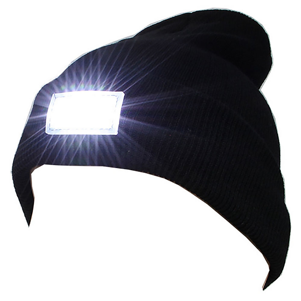 Light-emitting Cap 5-LED Lamp Knit Capless Camping Male Soft Maintenance Equipment Practical