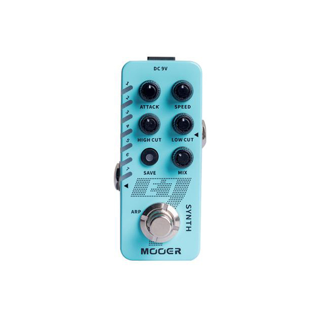 MOOER E7 Polyphonic Synth Guitar Pedal 7 Types Custom Synthesizer Synth Tones Like Trumpet Organ with Individual Arpeggiator
