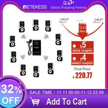 Retekess Wireless Tour Guide System 1 Transmitter T130+10 Receiver+Mic for Church Translation system Factory Tour Training Court