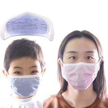 Men Women adult  Non-woven Anti Dust Mask Activated Filter 2layers Mouth Mask Muffle Bacteria Proof Flu Face Masks