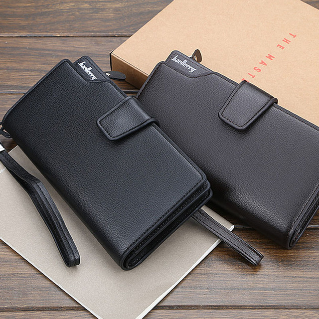 Baellerry Men Wallets Long Style High Quality Card Holder Male Purse Zipper Large Capacity Brand PU Leather Wallet For Men 3