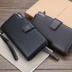 Image 3 - Baellery homens carteiras estilo longo de alta qualidade titular do cartão masculino bolsa zíper grande capacidade marca couro do plutônio carteira para homem