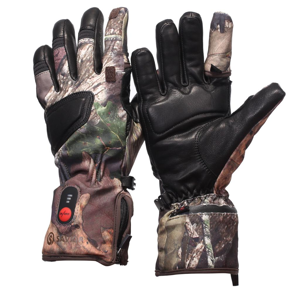 SAVIOR bark type camouflage heating gloves hunting fishing winter warm riding skiing sports electric gloves antifreeze hands