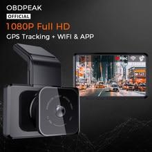 Nuovo Smart DashCam RearView Cam GPS Track FHD 1080P WIFI Car DVR 30FPS Super Night Vision Auto Camera videoregistratore parcheggio 24H