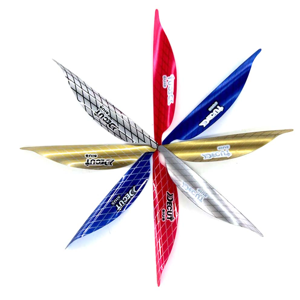 50pcs Hottest Archery Spin Vanes  1.56/1.75/2 Inch Spiral Feather DIY Arrow Archery With Sticker Tape Arrow Accessories RW