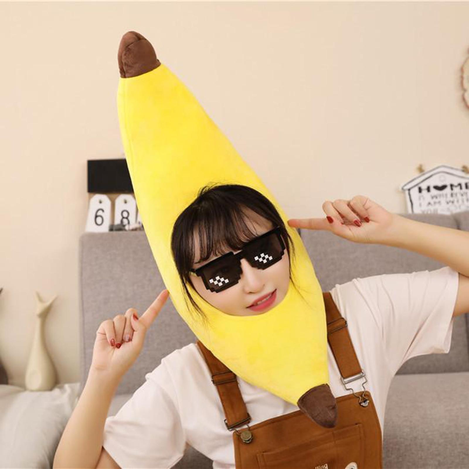 Festival Costume Caps Kids Banana Hat Fancy Dress Halloween Head Accessory