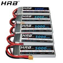HRB batterie Lipo 5000 V 11.1 mah, 14.8V 50C T Deans XT60 EC5 7.4V 2S 3S 18.5V 22.2V, pour avion et bateau FPV voiture 4WD pièces RC 4s 5s 6S