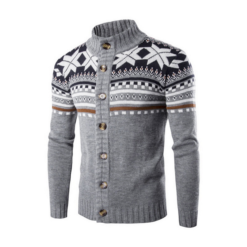 Men's High Quality Knit Sweater Men Turtleneck Sweaters Casual Long Sleeve Homme Pullover Tops Men Christmas Stand Collar Clothe