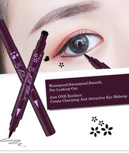 Sexy Flower Love Black Eyeliner Pen Eye Shadow Pen Waterproof an Sweat Is Not Blooming Make Up Comestics Long-lasting Eye Pencil(China)