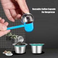 24 pçs café nespresso vagens de aço inoxidável recarregáveis capsulas nespreso reutilizável copo de filtro de café novo diy ferramentas de café|Conjuntos de café| |  -