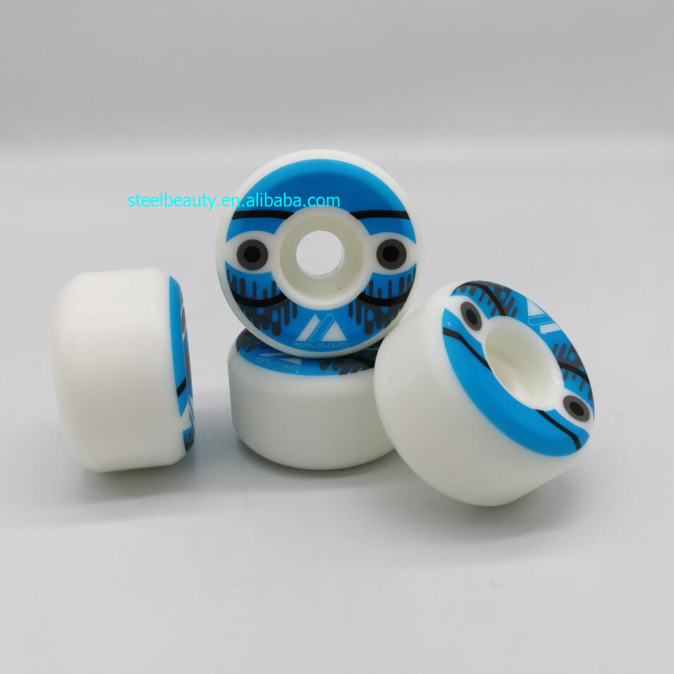 Good Quality Conical And Round Shape Skateboard Wheels 54mm Skate Wheel 90% Rebound 54*32mm 105A Wear-resisting Skating Wheels