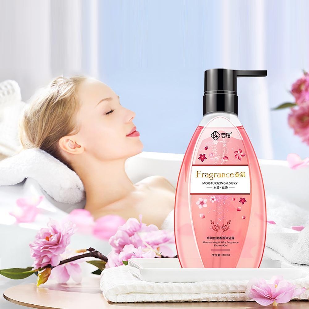 HobbyLane  500ml Perfume Shower Gel Whole Body Wash Fast Whitening Deep Clean Skin Moisturizing Exfoliating Body Care 1pcs