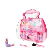Safe Non Toxic Eyeshadow Lipstick Brush Kit Children Girl Princess Makeup Set Pretend Play Education Toy
