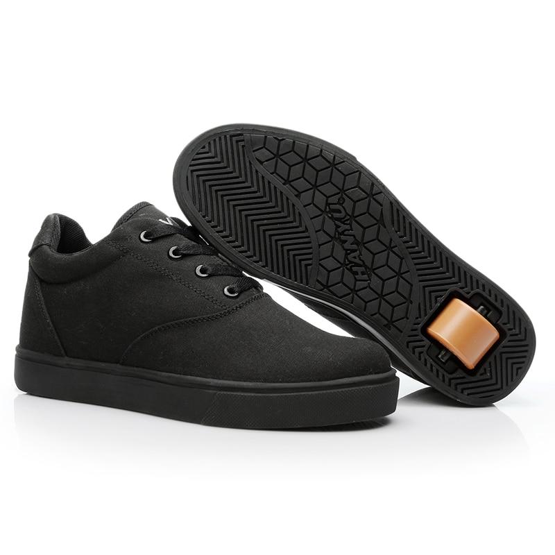 Белые кроссовки для мальчиков с одним колесом, черные светильник кие кроссовки на роликах, летние спортивные кроссовки для девочек, модные ...