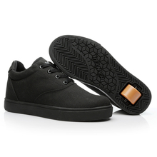 White Boys Sneakers with one Wheel Black Light Weight Roller Shoes Girls Summer