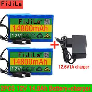 Battery-Pack Lithium-Ion 18650 Cam-Monitor Capacity Rechargeable 14800mah DC 100%Original