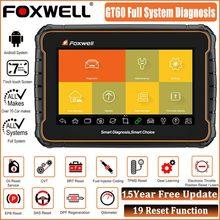 Foxwell GT60 OBD2 coche herramienta de diagnóstico completo del sistema ABS aceite SRS DPF 19 restablecer escáner automotriz herramienta lector de código PK MK808