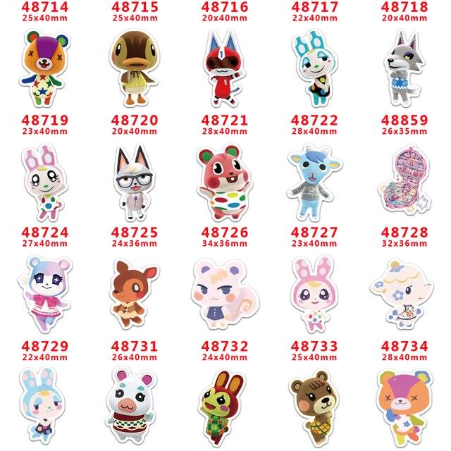 DIY Craft Supplies cartoon Game Animal printed flat back planar resins 30 pieces. PR-48714-48734
