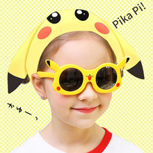 New Pokemon Pikachu 8124 Japan Cartoon yellow Flexible TR90 Sunglasses Kids Children Boys Girls Summer Polarized