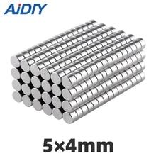 AIDIY 30/50/100 pcs 5x4mm Mini Small round neodymium magnet  super powerful strong NdFeB rare earth magnets Disc 5mm*4mm