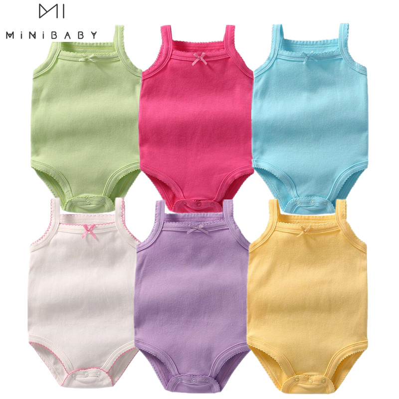 Summer Aliexpress Baby Clothes Infant Bodysuit 9 Colour Baby Girl Costume 0-3 Years Old Newborn Clothes Body Infantil Menina