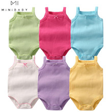 Summer aliexpress baby clothes Infant Bodysuit 9 colour baby girl costume 0-3 ye