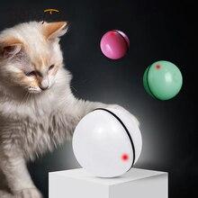 Benepaw חכם 360 תואר עצמי מסתובב כדור רעיל חתול צעצועים לחיות מחמד אינטראקטיביים חתלתול משחק Led אור USB טעינה לעורר האנט