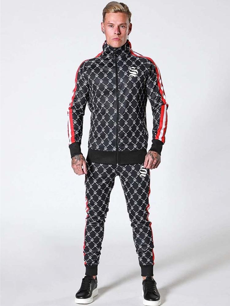 Tracksuit Sport Gyms Running Men Set Sport Wear Mens Top Fitness Bodybuilding Male Sport Suit Hoodied+Pants Joggers Tracksuit
