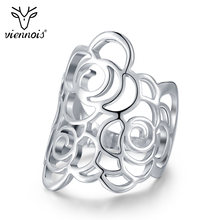 Viennois Модные полые кольца с цветами для женщин модные вечерние