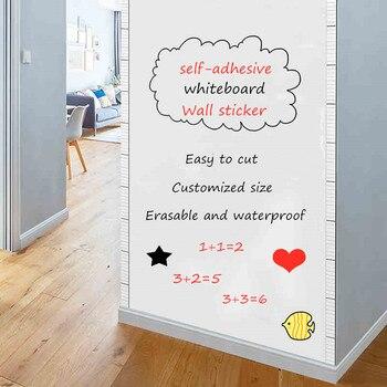 Tablica naklejka ścienna samoprzylepna wiadomość biała tablica wymienny rysunek pisanie tablica szkolna dla Office School Home Decor