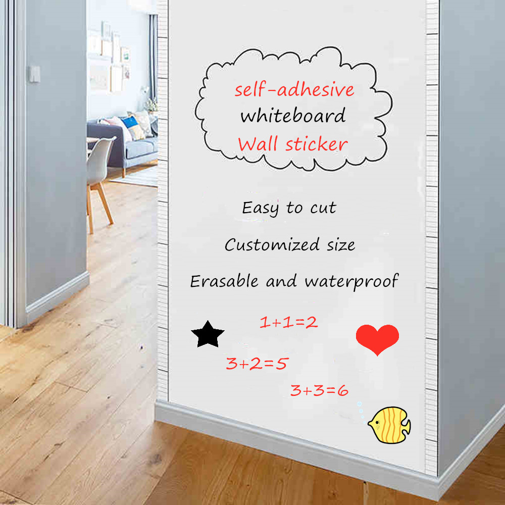 Whiteboard Wall Sticker Self-adhesive Message White Board Removable Drawing Writing Teaching Board For Office School Home Decor