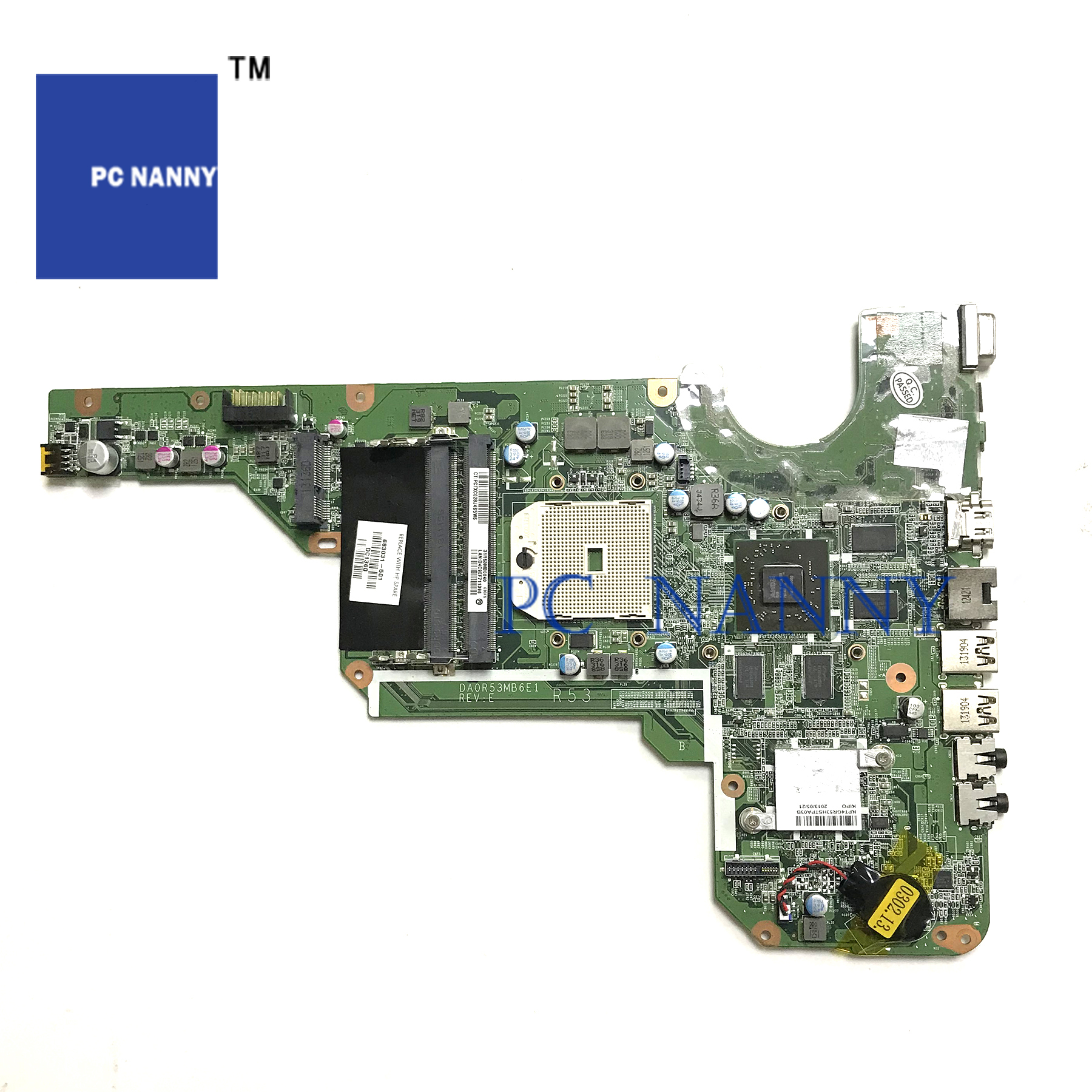 PANANNY FOR Hp G4 G6 G4-2000 G6-2000 G7 G7-2000 Laptop Motherboard 683031-501 DA0R53MB6E1 tested