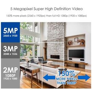Image 2 - ZOSI 4 ערוץ HD 5MP 4 in 1 AHD CVBS CVI TVI Nightvision אבטחת זיהוי וידאו מצלמה מערכת עם CCTV Bullet מצלמה ערכת DVR