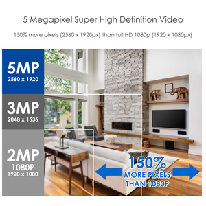 Image 2 - ZOSI système de caméra vidéo 4 en 1 HD, 5MP, 4 canaux, AHD CVBS CVI TVI, détection de vision nocturne, système de vidéosurveillance, caméra pare balles, Kit DVR