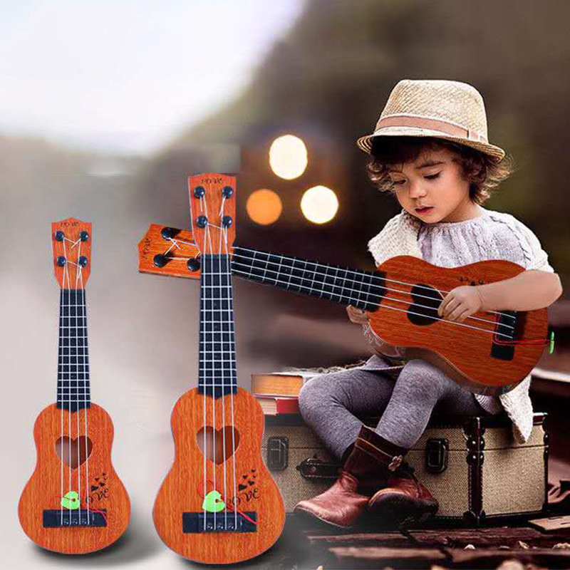 New Simulation Guitar Kids Ukulele Musical Instruments <font><b>Toy</b></font> Musical Educational Development Birthday Gift image