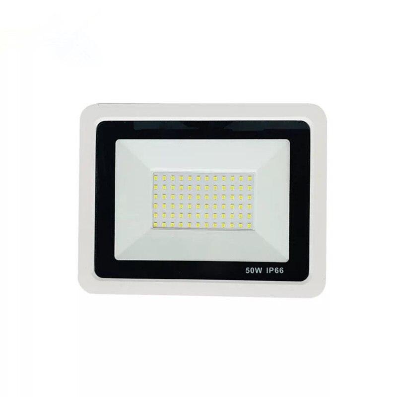 White Shell Spotlight 10W 20W 30W 50W 100W LED Flood Light Garden Lamp Gate Path Spot Light Reflector Exterior  Outdoor Lighting
