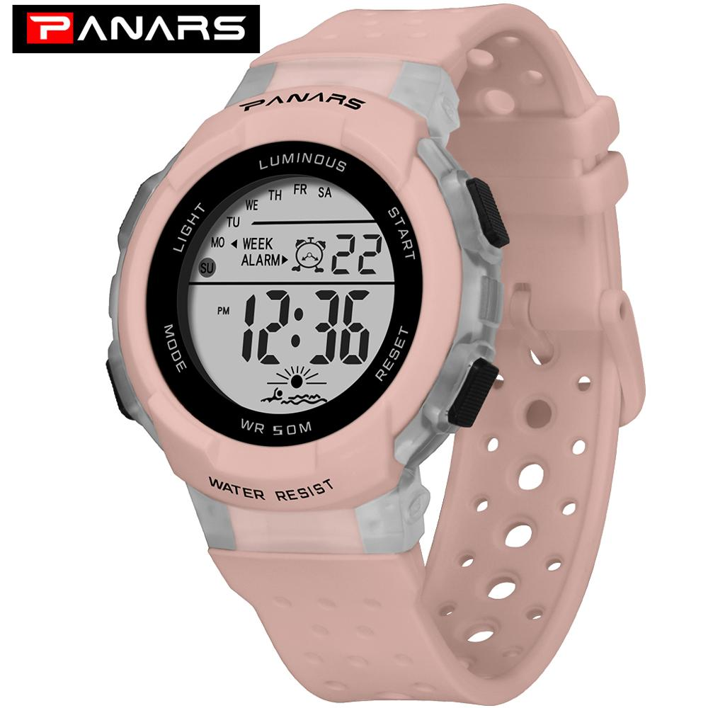 PANARS Kids Sports Digital Watches Colorful  Luminous Waterproof Students Wrist Watch Multi-function Breathable Children Watches