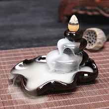 Creative Home Decor Backflow Stick Incense Burner Ceramic Censer Decoration Use In Teahouse