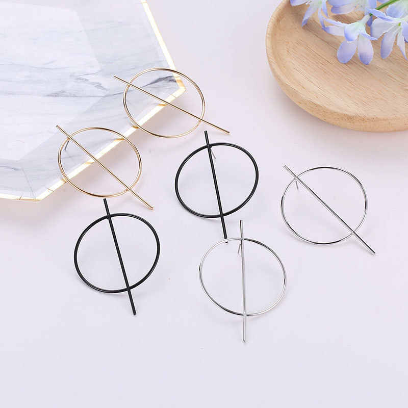 큰 루프 후프 디자인 ZYZQ 힙합 스타일 귀걸이 여성을위한 클럽 액세서리 드롭 귀걸이 한국어 세련된 귀 보석 유행
