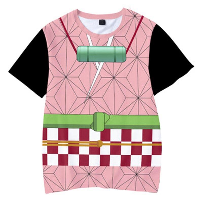 H36a5800a10b74404b04184611fa0ae86q Kids Boys Devils killer T-shirts 3d Print Cosplay Japanese Ghost blade Children Summer Short Sleeve Tshirts Demon Slayer Clothes