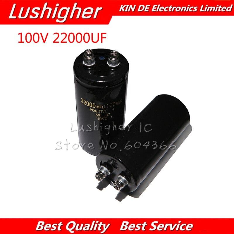 1PCS 100V 22000UF 100V22000UF 22000UF 100V 50x105mm Electrolytic Capacitor