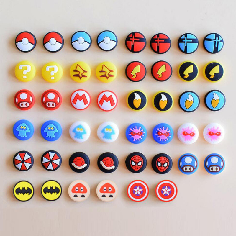 Joystick Cover Thumb Stick Grip Cap Skin For Mario Nintend Switch NS Joy-Con Controller Pokeball JoyCon Gamepad Thumbstick Case