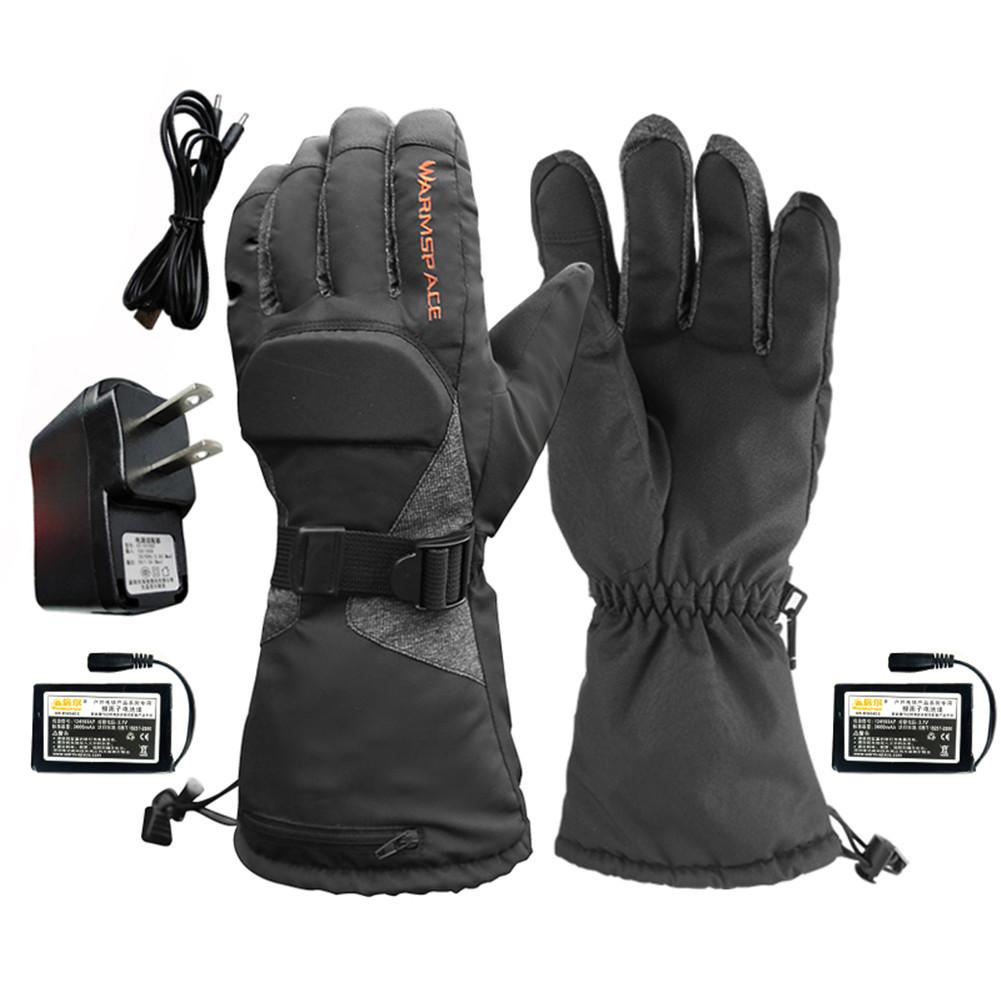 Motorcycle Heated Gloves 3.7V/3600mAh Lithium Battery Waterproof Keep Warm Thermal Heating Gloves For Outdoor Skiing Riding