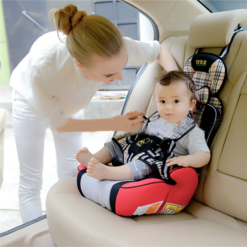 Portable High Quality Children Kid Baby Safety Car Simple Seats Harness Breathable Knitted Cotton Seat for 3 To 12 Years 5 Color
