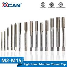 XCAN-robinet fileté à droite HSS, robinet Plug, outil métrique pour filetage de forage M2 M2.5 M3 M4 M5 M6 M7 M8 M10 M12 M15 1 pièce
