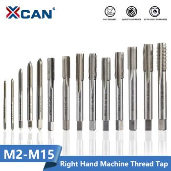 XCAN 1pc gwint prawy z kranu maszyna HSS wtyk metryczne gwintownik wiertła narzędzia z gwintem M2 M2 5 M3 M4 M5 M6 M7 M8 M10 M12 M14 M15 tanie i dobre opinie Metalworking Dotknij CN (pochodzenie) Stali stopowej HSRM2 Prawo