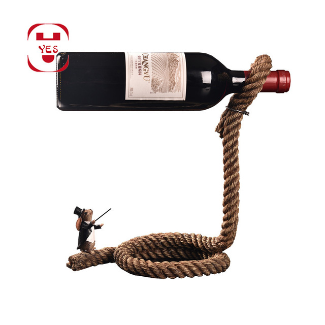 Magical Chain Or Rope Wine Bottle Holder 4