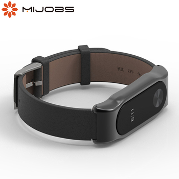 Strap for Xiaomi Mi Band 2 Genuine Leather Bracelet for Xiomi Miband 2 Wristbands Correas for