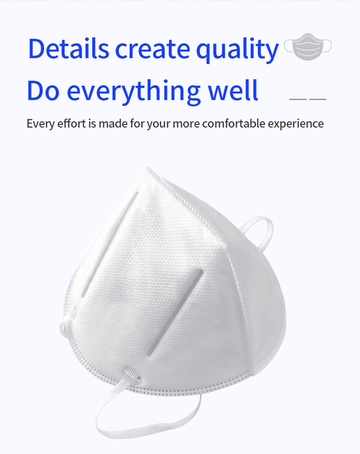 KN95 Dust Mask Protective Anti-Dust Masks Mouth Face Mask Protection Face Mouth Mask 95% Filtration Anti Fog Gas Flu In Stock 1
